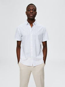 Linen Shirt - Bright White/Small / S - SKJORTOR - SHORT