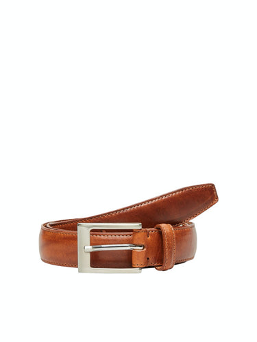 Fillip Formal Belt - Cognac / 85 - SKÄRP ACCESSOARER, BRUN,