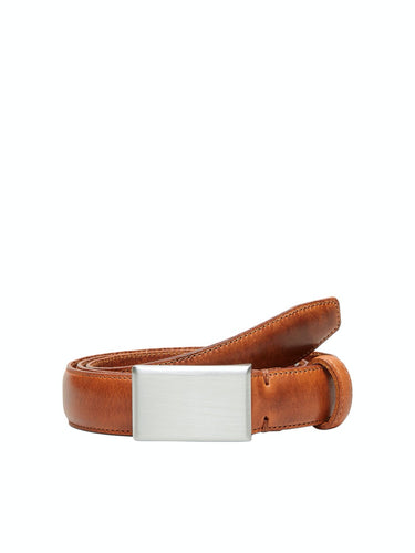 Fillip Formal Plate Belt - Cognac / 85 - SKÄRP ACCESSOARER,