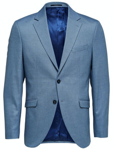 Slim MyloLogan Blazer - KOSTYM 48, 50, 52, 54, BLÅ SELECTED