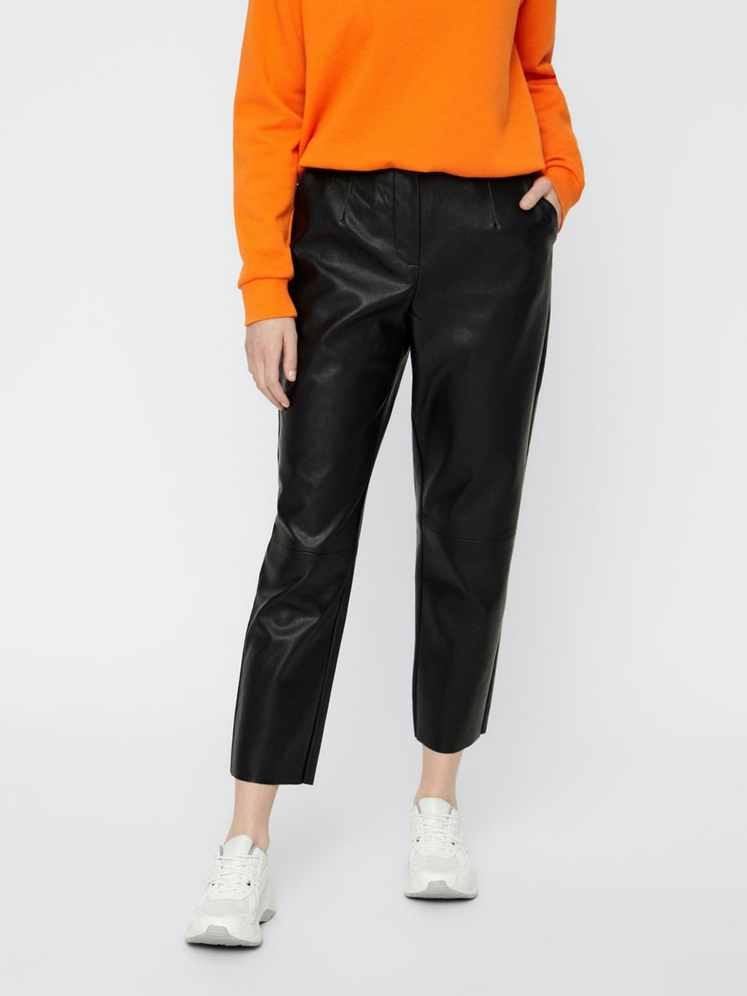 Ivina Cropped Pants - Black / XS - BYXOR BYXOR, COATED, DAM,