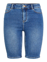 Ladda upp bild till gallerivisning, Amelia Long Shorts - Medium Blue Denim / XS - SHORTS BLÅ,