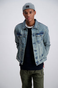 Denim Jacket - Blue Legacy / S - JACKA BLÅ, DENIM, HERR,