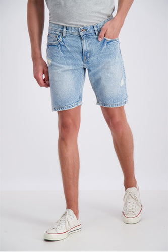Loose Fit Shorts - Bleach Indigo / S - SHORTS 2-554001BIN,