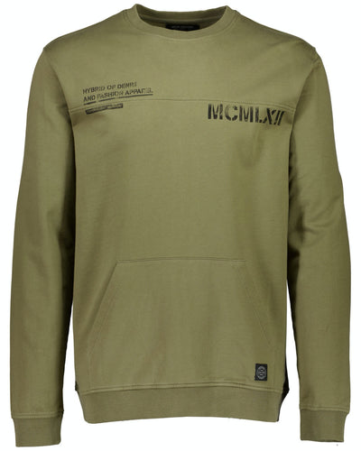 Hybrid Sweat - Dusty Army / S - TRÖJA 2-700022, DUSTY ARMY,