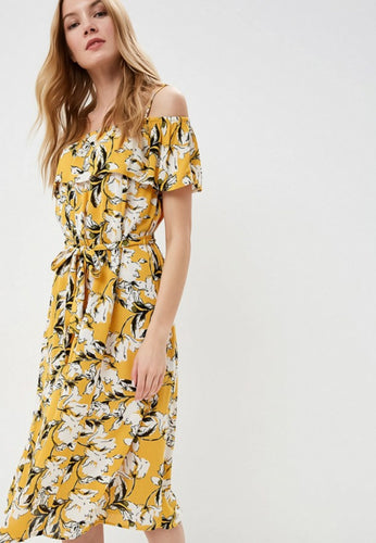 Marrakech Dress - Yellow / XS - KLÄNNINGAR DAM, GUL, ICHI,