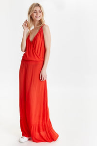 Marrakech Solid Dress - Red / XS - KLÄNNINGAR DAM, ICHI,