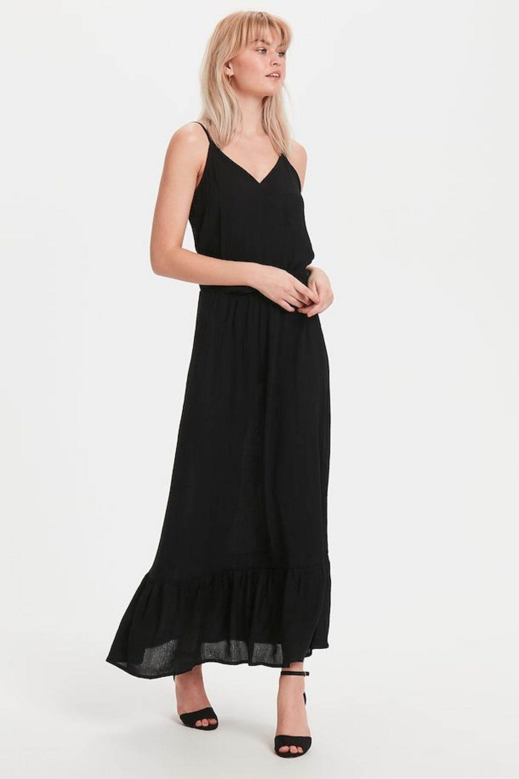 Marrakech Solid Dress - Black / XS - KLÄNNINGAR DAM, ICHI,