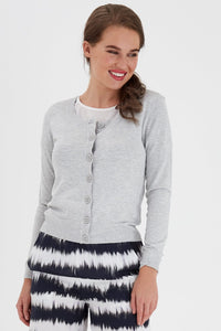 Zuvic Cardigan - Light Grey / XS - KOFTOR DAM, FRANSA, GRÅ,