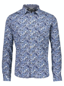 Floral Stretch Shirt - SKJORTOR - LONG SLEEVE 3XL, BLOMMIG,