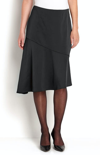 Satin Skirt - Black / 36 - KJOL 36, 38, 40, 42, 44 CELLBES