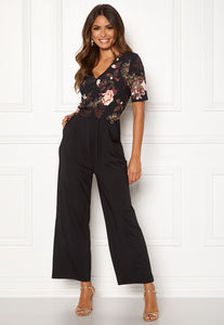 Iman Jumpsuit - Black/Patterned / 32/34 - JUMPSUIT 32,