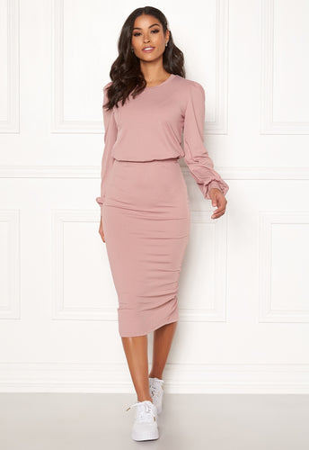 Besa Rib Dress - Dusty Lilac / XS - KLÄNNINGAR BUBBLEROOM,