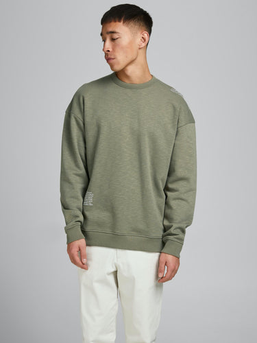 Jordy Sweat Crew Neck - Deep Lichen / S - TRÖJA 12185033,
