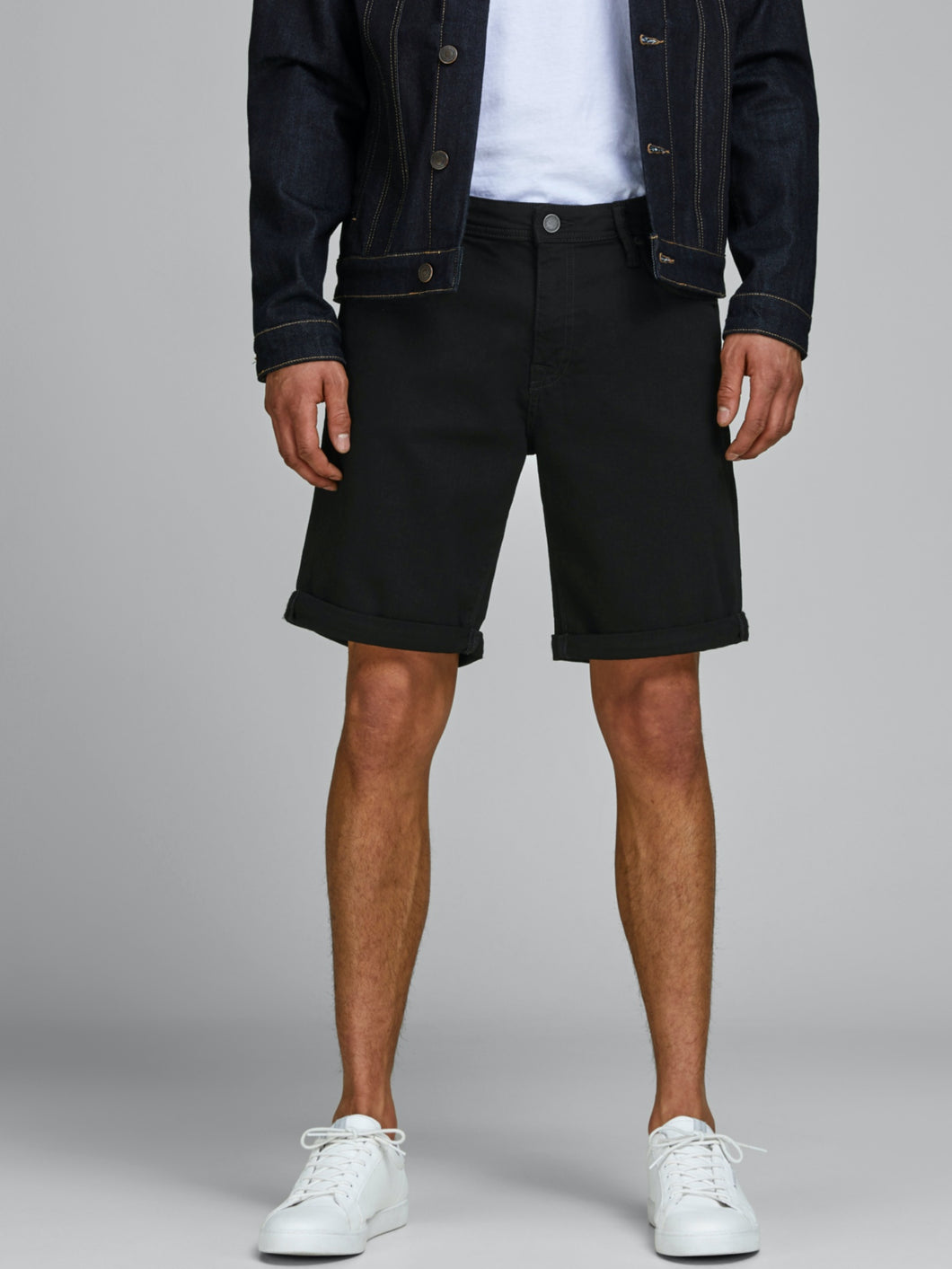 Rick Felix Shorts - Black Denim / S - SHORTS DENIM, HERR,