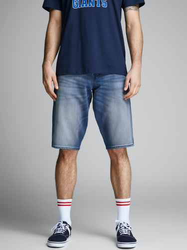 Ron Long Shorts - Blue Denim / S - SHORTS DENIM, HERR, JACK