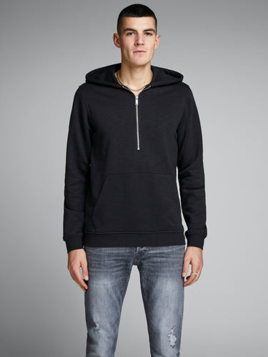 Camden Sweat Half Zip - Black / S - TRÖJA 12145418, BLACK,