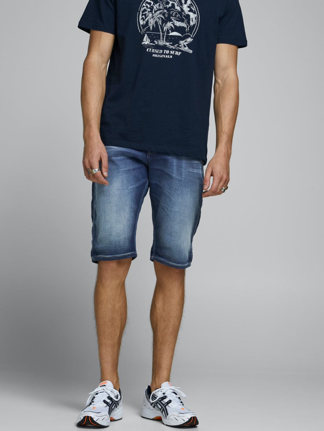 Rex Long Shorts 021 - Blue Denim / S - SHORTS DENIM, HERR,