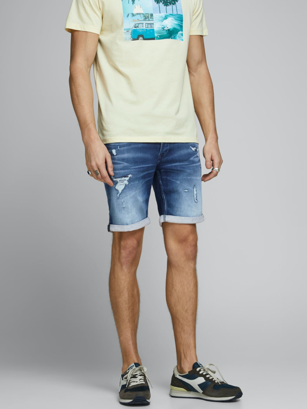 Rick Icon Shorts 007 - Blue Denim / S - SHORTS DENIM, HERR,