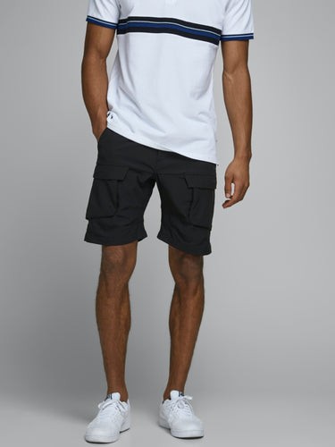 Life Cargo Shorts - Black / XS - SHORTS HERR, JACK & JONES,
