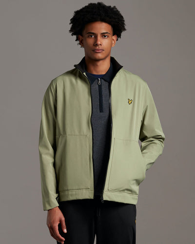 Funnel Neck Softshell Jacket - Moss / XS - JACKA BLACK,