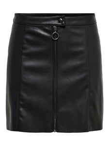 Pippa Faux Leather Skirt - KJOLAR 15188812, 34, 36, 38, 40