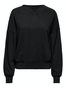Gianna Life Oversized Sweat - Black / XS - TOPPAR DAM, GRÖN,