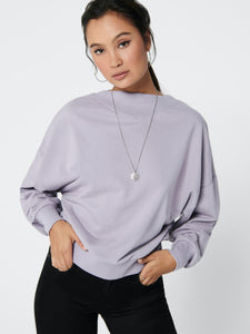 Gianna Life Oversized Sweat - Lavender Gray / XS - TOPPAR