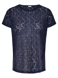Tag S/S Lace Top - Night Sky / XS - TOPPAR DAM, GRÖN, L, M,