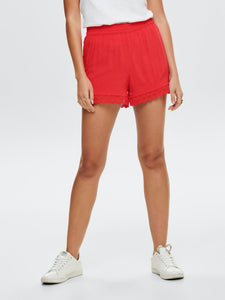 Famous Lace Shorts - Red / 34 - SHORTS 15174081, 34, 36, 38,