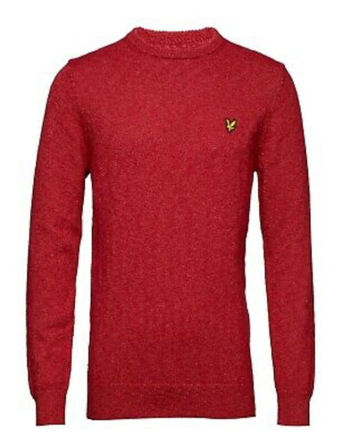 Mottled Jumper - Dark Red / S - STICKAT GRÖN, HERR, LYLE &