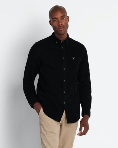 Needle Cord Shirt - Jet Black / S - EntreSunne