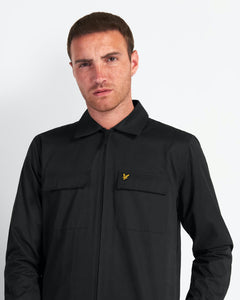 Cotton/Nylon Overshirt - SKJORTOR - LONG SLEEVE HERR, JET