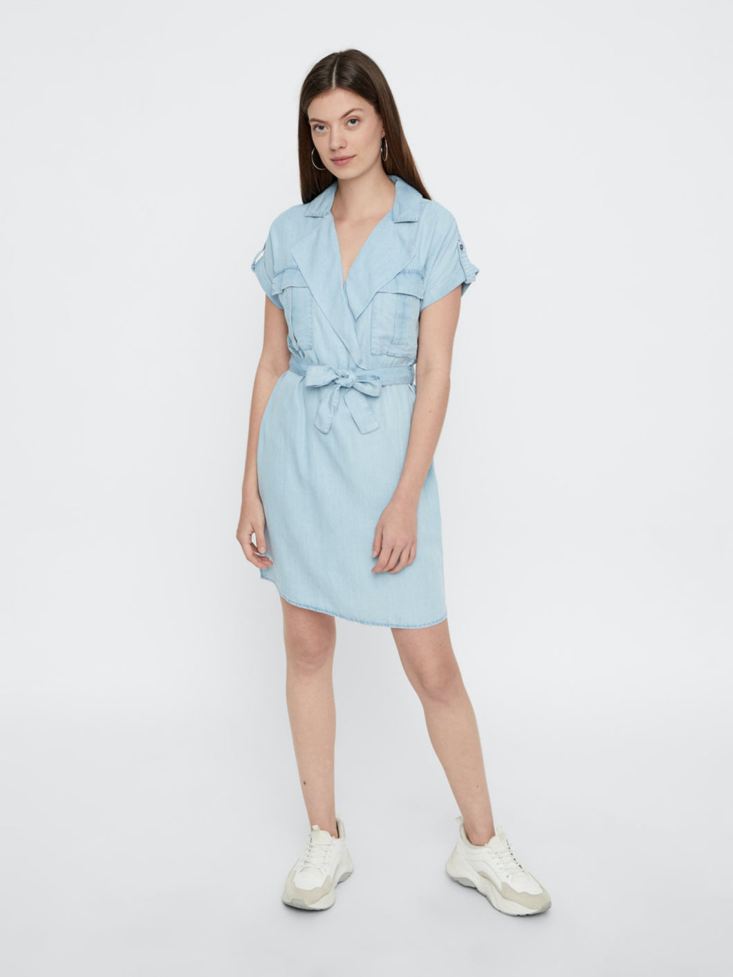 Vera Shirt Dress - Light Blue Denim / XS - KLÄNNINGAR BLÅ,