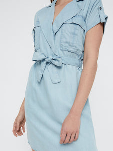 Vera Shirt Dress - KLÄNNINGAR BLÅ, DAM, DENIM, GRÖN,