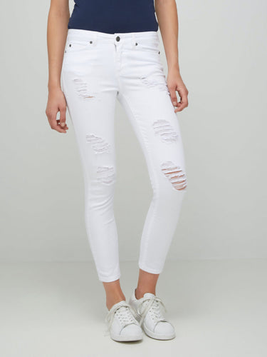 Lucy NW Super Slim Jeans - White - 32 / 25 - JEANS DAM,