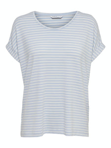 Moster Stripe O-Neck Top