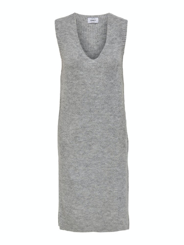 Cora Long V-Neck Vest - Light Grey Mel / XS - STICKAT