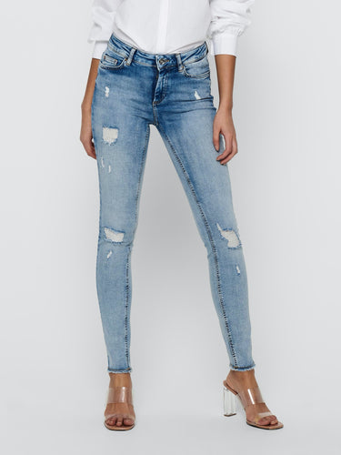 Blush Life Raw Ankle Jeans - XS / 30 - JEANS 15223417,
