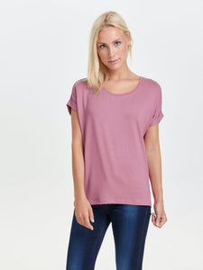 Moster S/S O-Neck Top - Mesa Rose / XS - TOPPAR 15106662,
