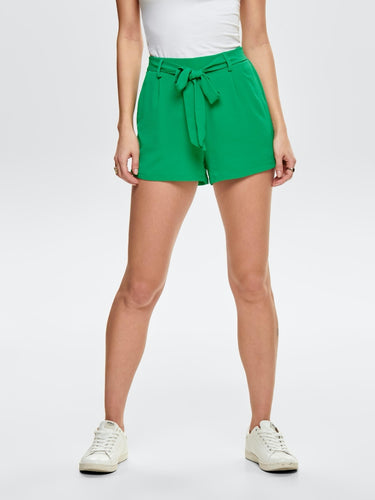 Nova Lux Shorts With Belt - Green / 34 - SHORTS 15172791,