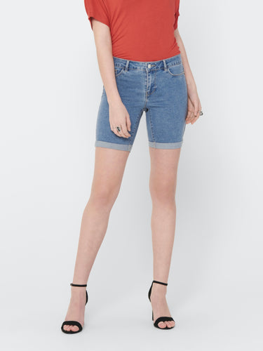 Sun Anne Shorts - Light Blue Denim / XS - SHORTS DAM, DENIM,