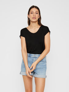 Billo Tee - Black / XS - TOPPAR DAM, L, M, NOOS, PIECES