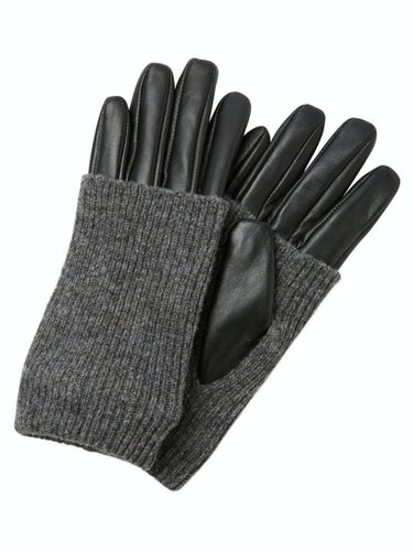Patty Leather Gloves - Black / S - HANDSKAR 17076031,