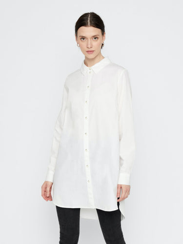 Noma Long Shirt - Cloud Dancer / XS - BLUSAR BLUS, BLUSAR,