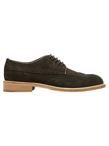 Baxter Brogue Suede Shoe - Demitasse / 40 - SKO 40, 41, 43,