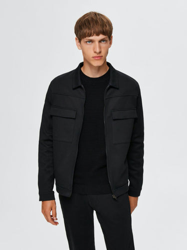 Jenner Sweat Jacket - Black / S - SKJORTOR - LONG SLEEVE