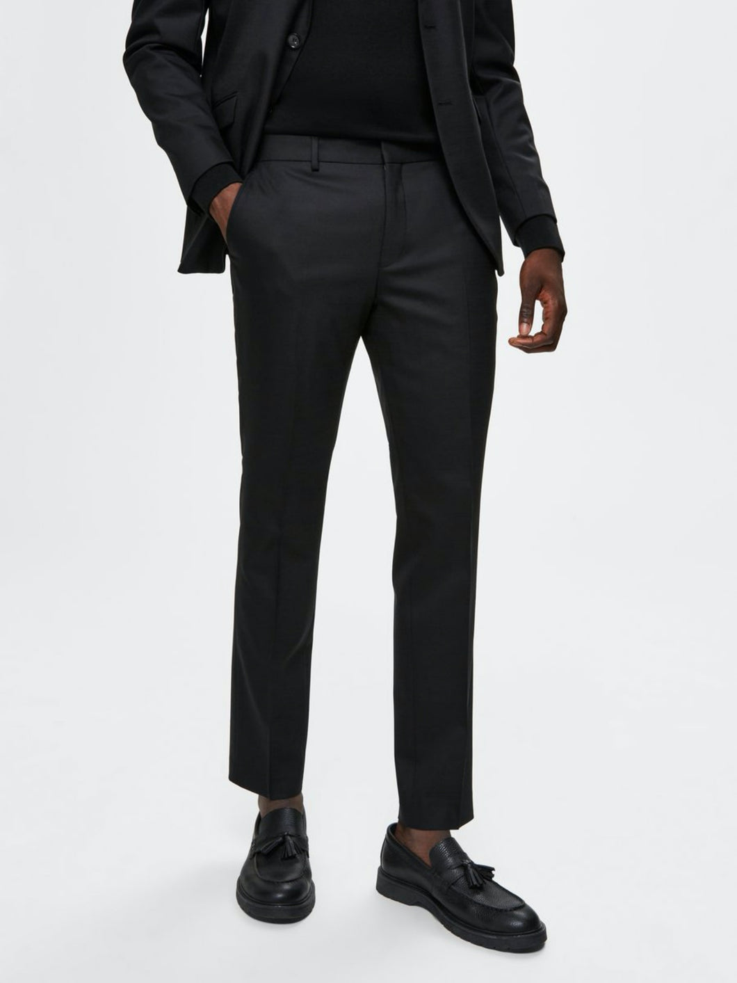 Slim Mylostate Black Trousers - Black / 46 - BYXA 16069376,