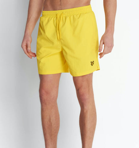 Plain Swim Shorts - Buttercup Yellow / XS - SHORTS