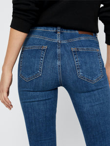Delly Jeans 184 - JEANS BLÅ, DAM, DENIM, JEANS, L Pieces BLÅ